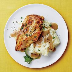 Chicken with Mashed Potatoes and Gravy | CookingLight.com