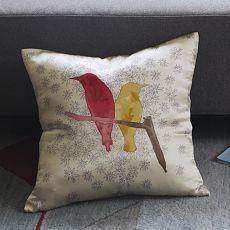 Paulina Reyes Silk Bird Pillow Cover - Yellow | west elm