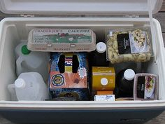 camping tricks, gallon jug, bottl, camping tips, food, coolers, ice packs, place, drinking water
