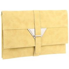 BCBGeneration Lime Julia Envelope Clutch Handbag www.BagLane.com