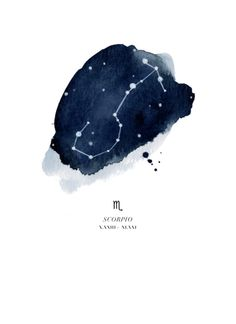 Zodiac Constellation - Scorpio Art Print