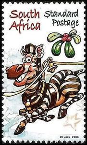 Stamp: Zebra (South Africa) (Christmas 2006) Mi:ZA 1728