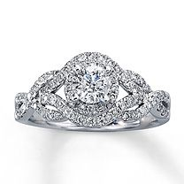 This is a very close second... :) 14K White Gold 1 Carat t.w. Diamond Engagement Ring