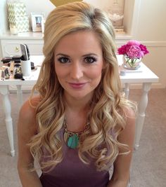 half up half down curled wedding hair  ~  we ❤ this! moncheribridals.com #longweddinghair