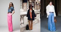 calça pantalona jeans cintura alta - Pesquisa Google