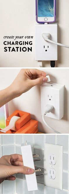 Turn your wall socket it into a streamlined charging station. thingCHARGER lets you use your plugs, but adds two USB ports and a charging dock.