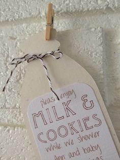 milk & cookie baby shower invitations via Etsy