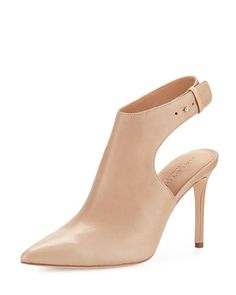 Betty+Ankle-Strap+Bootie,+Buff+by+Halston+Heritage+at+Neiman+Marcus.
