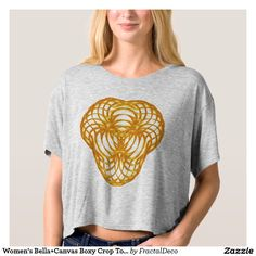 Women's Bella+Canvas Boxy Crop Top Sacred Geometry