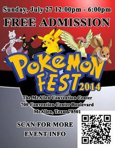 Pokemon Festival 2014 • Featured Events • McAllen Convention Center