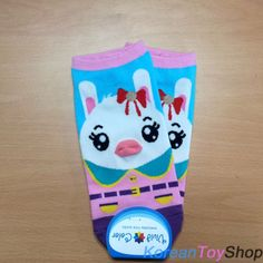 Korean-Style-Womens-Casual-Vivid-Color-Cute-Rabbit-Character-Ankle-Socks-1Pairs