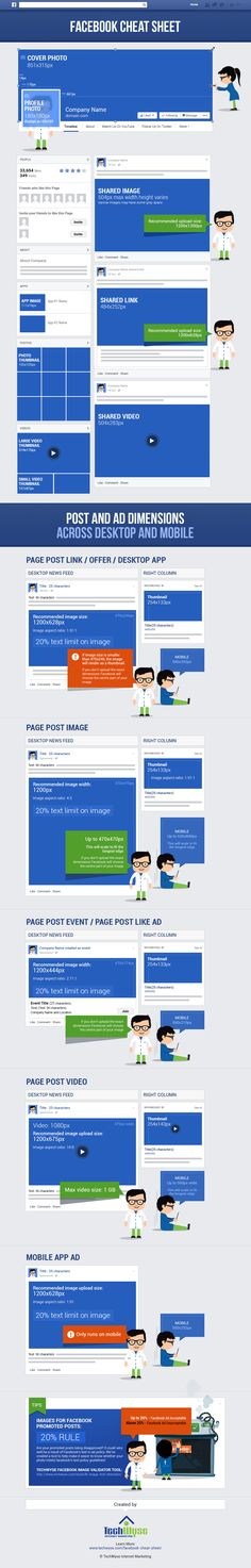 Facebook Cheat Sheet: Image Size and Dimensions UPDATED!
