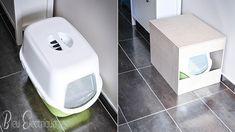 DIY// La Maison de toilette pour chat   Bleu Electrique