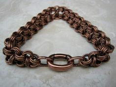 Large Rugged Copper Men's Bracelet Men's Chain Bracelet by Arret