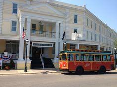 Take a ride on the trolley in downtown Petoskey late-June thru labor Day!  #PetoskeyArea  http://www.PetoskeyArea.com