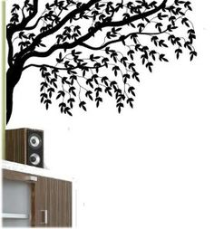 Gorgeous Tree Branches and Leaves Vinyl Wall Decal...