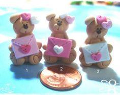 Easter Bunny Head Polymer Clay Charm Bead door RainbowDayHappy