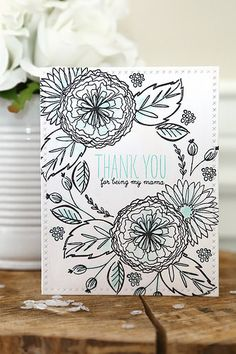 freestyle florals {mama elephant stamp highlight}