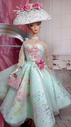 Vintage Reproduction Barbie Silkstone FR Fashion VR Handmade Dress OOAK / Mary