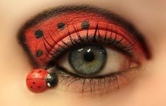 Ladybug makeup.