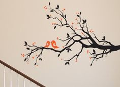 This beautiful birds on a tree wall art sticker is perfect for the living area or any room in the house. This decal is available in a one or two colour design in any size you like.  Our wall stickers are precision cut from high quality matt finished ultra-thin vinyl, they look absolutely stunning and appear as though they are painted onto the surface. They come in large variety of colours & a range of sizes from small to X-Large.