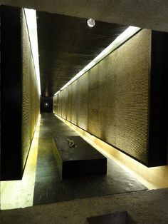 Jewish war memorial. Each pebble on the wall represents a lost life.