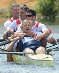 Great Britain's Alex Gregory, Pete Reed, Tom James and Andrew Triggs Hodge (Olympics 2012, London)
