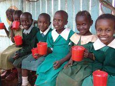 Happy Kenyan school children