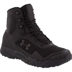 Men's Under Armour Valsetz RTS Wide Tactical Boot - Black UA Field Duty Boots - dressy casual mens shoes, nice mens shoes casual, shop for mens shoes online Tactical Wear, Tactical Clothing, Tactical Shoes, Police Gear, Military Gear, Men's Shoes, Shoe Boots, Duty Boots, Hiking Shoes