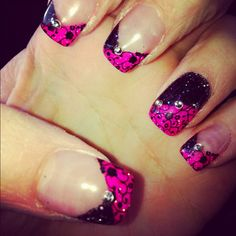 Hot pink and black shimmer!
