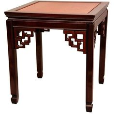 Rosewood Square Ming End Table - Two-tone (1,235 CNY) ❤ liked on Polyvore featuring home, furniture, tables, accent tables, low end table, handmade tables, two tone coffee table, low square coffee table and low side table