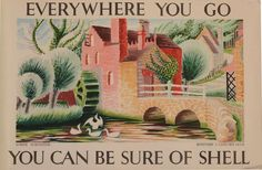 Clifford (1907-1985) & Rosemary (1910-1998) Ellis Lower Slaughter Colour lithographic poster, 1934 76.5 x 114cm (30 1/8 x 44 7/8in.) Unframed Commissioned by Shell-Mex and B.P. Ltd.