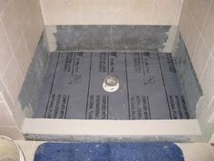 Shower pan is a quick solution that provides years of trouble free service in almost any bathroom. But sometimes a shower pan is too generic Diy Shower Pan, Shower Pan Liner, Shower Base, Shower Floor, Shower Remodel, Bath Remodel, Diy Flooring, Bathroom Flooring, Concrete Shower Pan