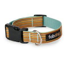 Eco Friendly Sky Thin Stripe Dog Collar