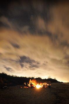 Love beach bonfires. A luxury of living on the beach, I miss it.