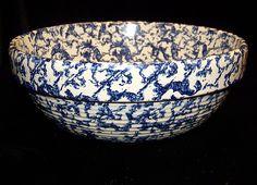 Vintage Blue Spongeware