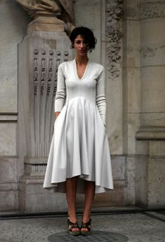 Perfect tailoring and cut to this dress.