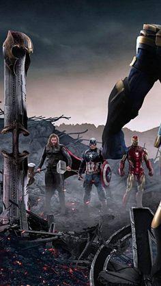 Captain Iron Man and Thor Against Thanos iPhone Wallpaper – Top Bilder Iron Man Avengers, Marvel Avengers, Memes Marvel, Marvel Films, Marvel Art, Marvel Characters, Captain Marvel, Fictional Characters, Thanos Marvel