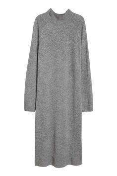 Fine-knit cashmere dress - Grey - Ladies | H&M GB