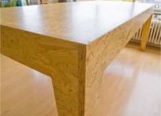 chipboard table: