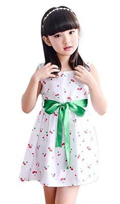 FEOYA Girls Star Sleeveless Daily Dress Tulle Tea Length A-line Princess Dress