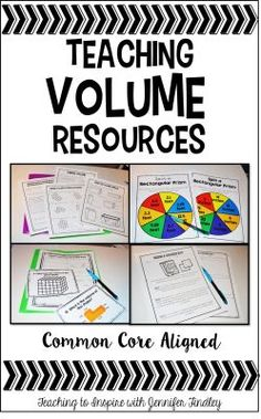 Resources for teaching volume can be found on this blog post including a link to a great introductory video.