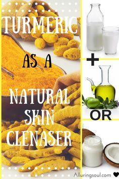 turmeric face mask - turmeric as a natural skin cleanser