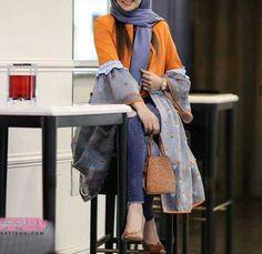 Modest Fashion Hijab, Abaya Fashion, Muslim Fashion, Motif Abaya, Fashion Drawing Dresses, Fashion Dresses, Hijab Fashionista, Iranian Women Fashion, Kimono Design