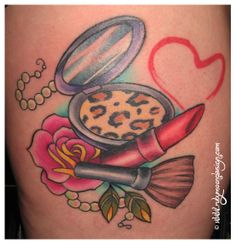 makeup compact tattoo - photo #15