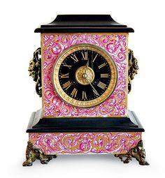 Antique John J. Peters & Co. clock.