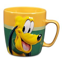 Disney Store Pluto Coffee Mug Cup Bright Gold Green >>> Read more details by clicking on the image. Mickey Mouse Kitchen, Disney Coffee Mugs, Disney Cups, Birthday List, Cute Mugs, Mug Cup, Drinkware, Coffee Cups, Geek Stuff