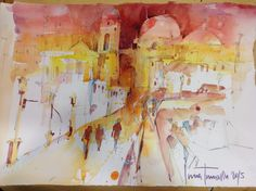 Inna, Urban Painting, Abstract, Artwork, Design, Watercolor Painting, Spain, Painting Art, Art Work