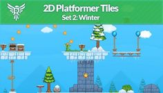 2D Platformer Tiles - Winter has just been added to GameDev Market! Check it out: http://ift.tt/1UsK0mW #gamedev #indiedev