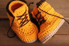 Bottes Crochet motif de PDF pour bébé Garçons bûcherons par Inventorium